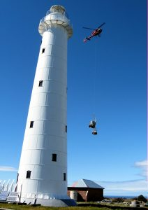 Aerial delivery Tasman Island
