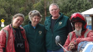 New Friends for new Volunteers at Cockle Creek Volunteers Julie and Graham Myer and Visitors Kevin and Kirsty