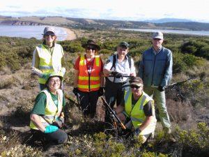 Cape Deslacs Reserve Working Bee Crew