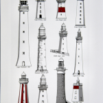 Peter Gouldthorpe Lighthouses of Tasmania Tea towels 500
