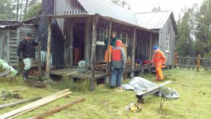 WCMV Working in the Rain - Mt Kate Hut