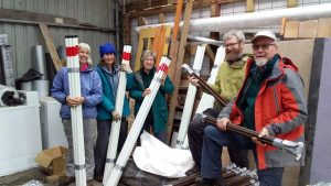 WCMV Snow Pole Preparation Team