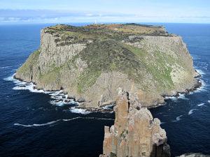 The narrow Tasman Passage separates Tasman Island from the Blade & Cape Pillar